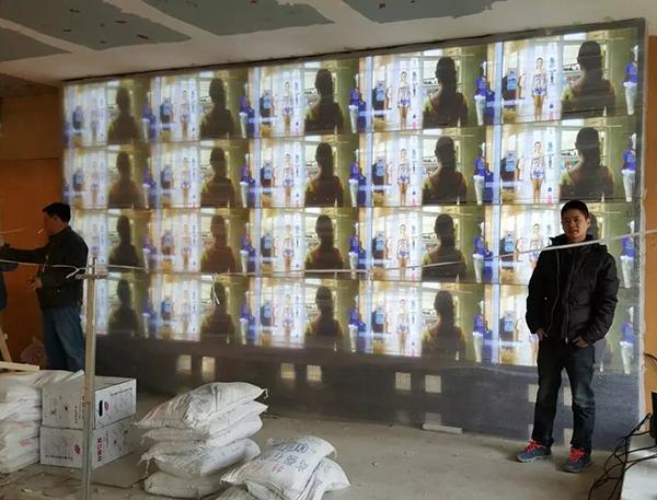 北京华医皮肤医院47寸4X5拼接屏